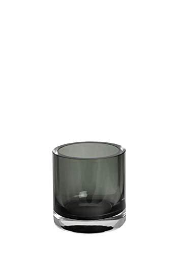 Kaheku Vase Windlicht Zylinder Trevor Smoke, Ø 10 cm, H= 10 cm 1132006375