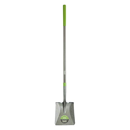 AMES 25337100 Tempered Steel Square Point Shovel with Fiberglass Handle, 61-Inch