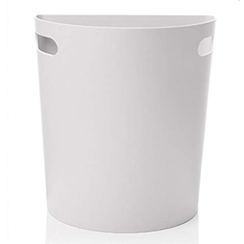 Queen Boutiques Haushalt Küchenschrank Tür Hängen Mülleimer Badezimmer Wohnzimmer Schlafzimmer Halbrunde Kreative Mülleimer ohne Abdeckung (Color : Gray, Größe : L)