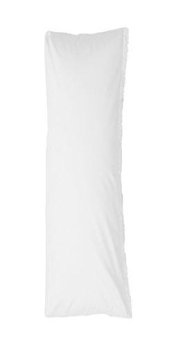 Bellana Zijslaapkussen overtrek Stijlkussen Mako Jersey 40x140 cm Kleur: wit