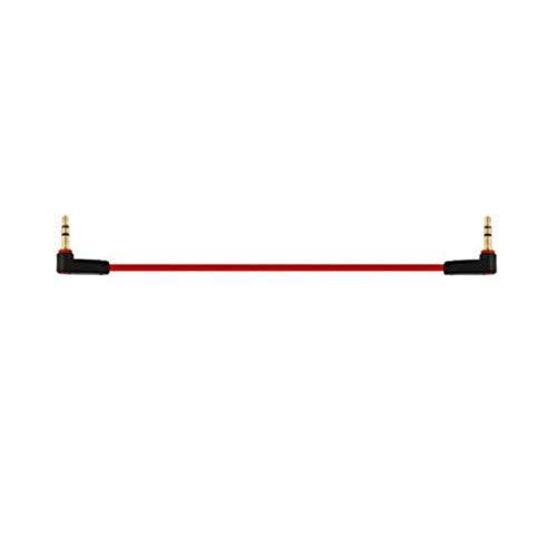KRS - KA14 - Stereo Verbindungskabel 3 Polig Klinken Stecker 3,5 mm 2X gewinkelt 90° ca 13 cm AUX IN Line In Kabel (KA14)