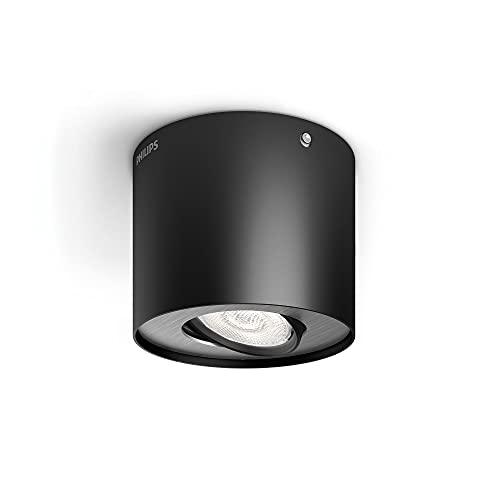 Philips 533003016 Phase Luminaire d'Intérieur Spot LED Métal Noir 4,5 W