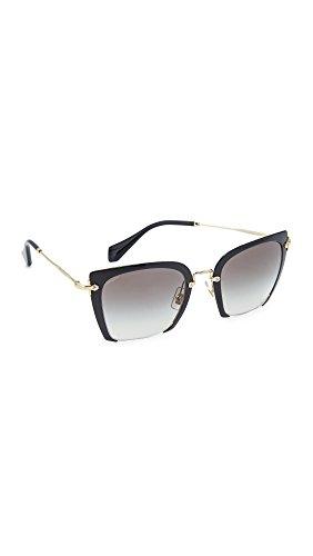 Miu Miu Damen 0Mu52Rs 1Ab0A7 52 Sonnenbrille, Schwarz (Black/Gradient)