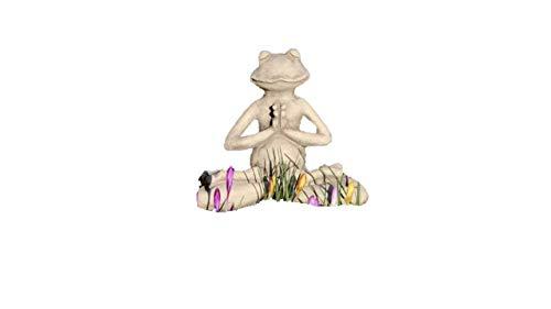 Yoga Frosch Lotus, Tierfigur aus Steinguss