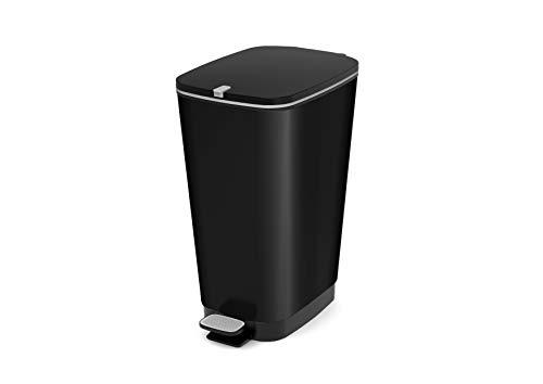 Kis Chic bin Style Abfallbehälter 45L mit Pedal, schwarz metallic