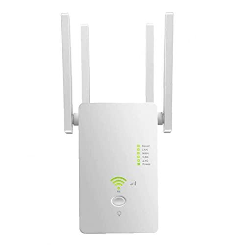 WiFi Booster Range Extender Router Repeater inalámbrico AC1200M Internet Booster Range Extender Universal Dual Band para PC Blanco No se requiere configuración