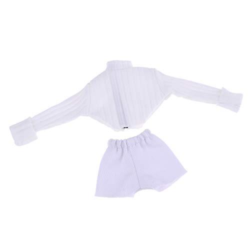 CUTICATE Puppenkleidung Anzug Gestricktes Top + Kurze Hosen Für 1/6 Blythe Puppen Zubehör - # 2