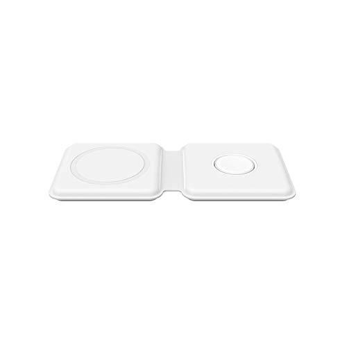 Cargador inalámbrico magnético plegable dos en uno de carga rápida de 15 W, adecuado para iPhone 12 Mini 12 Pro 12 Pro Max 11 Series X XR, AirPods Pro, base de carga magnética de doble núcleo IWatch