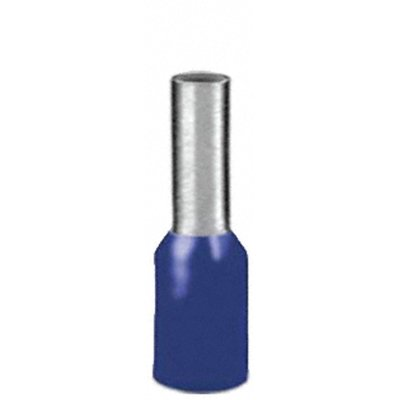 100 x Aderendhülsen-Sortiment - Farbe BLAU- isoliert - Querschnitt 2,5qmm / 2,5mm² Länge 8 mm