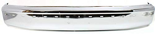 Front Bumper Compatible with 1992-1996 Ford F-150 / F-250 / Bronco Chrome with Molding Holes