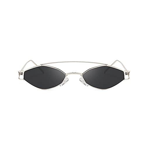 FEINENGSHUAI Nstyj Gafas de sol para mujer, Hipster Hexagonal Polarizadas Gafas de sol para hombre y mujer, geométricas cuadradas de sombra pequeña, duraderas, ligeras, rectangulares (color: negro)