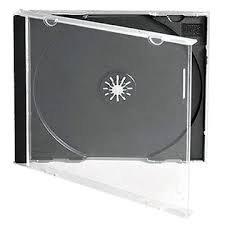 Dragon Trading - Juego de 5 cajas para CD y DVD (10,4 mm, 5 unidades), color negro
