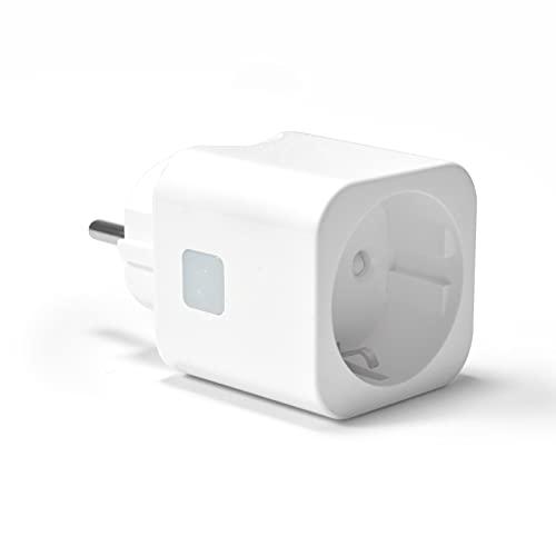 Wlan Steckdose - Woolley Smart Plug Alexa Stecker mit Schalter, Kompatibel mit Amazon Alexa/Google Home und eWelink APP (1 Stück, Weiß)