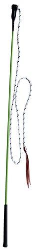 AMKA Kontaktstock mit Seil für Bodenarbeit 120 cm GRÜN Reitstick Bodenarbeit Stock Carrot Stick Horsemanstick für Parelli Arbeit, Natural Horsemanship Karottenstecken Pferdestick