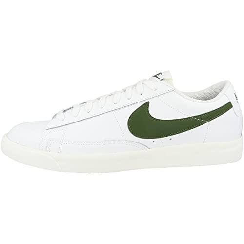 Nike Zapatillas de baloncesto Blazer Low Leather para hombre, color Blanco, talla 45.5 EU