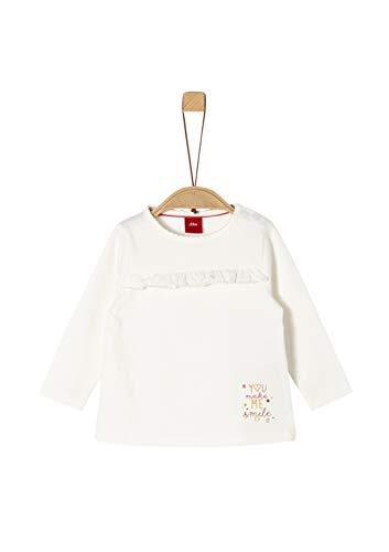 s.Oliver Baby-Mädchen 65.909.31.8969 T-Shirt, Elfenbein (Ecru 0210), (Herstellergröße: 86)
