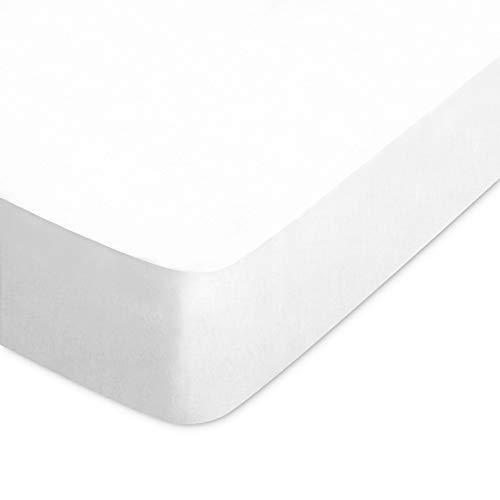 Linnea Drap Housse uni 90x190 cm Pur Percale Primo Blanc