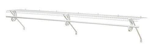 ClosetMaid 5632 Super Slide Ventilated Shelf Kit With Closet Rod 6 by 12 White
