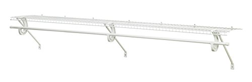 ClosetMaid 5632 Super Slide Ventilated Shelf Kit with Closet Rod, 6' by 12