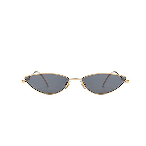 Gafas de sol de metal con montura pequeña, gafas de sol para hombre, gafas de sol con pieza de océano