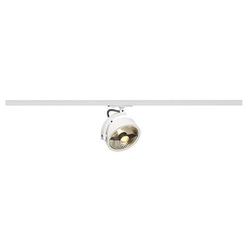 SLV 1 Phasen System Leuchte KALU TRACK / Strahler, LED-Spot, Decken-Strahler, Decken-Leuchte, Schienensystem, Innen-Beleuchtung / GU10 75.0W weiß