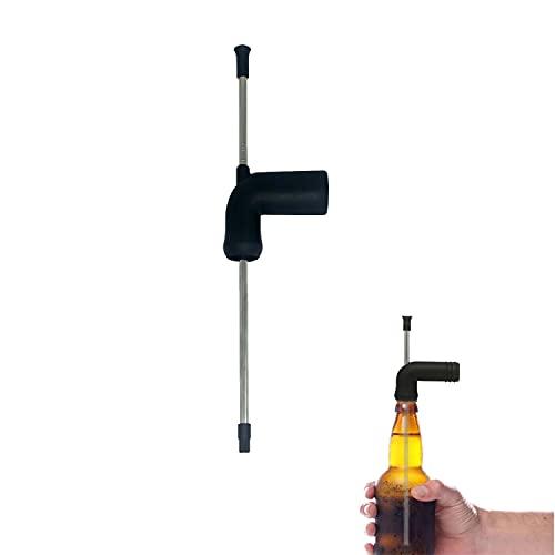 Cerveza Snorkel, 1 Pieza Elastomero Termoplástico Embudo de Fiesta de Entretenimiento de Cerveza, Esnórquel de Cerveza, Dispensador de Esnórquel de Cerveza, para Juegos de Beber Cerveza Party(Negro)