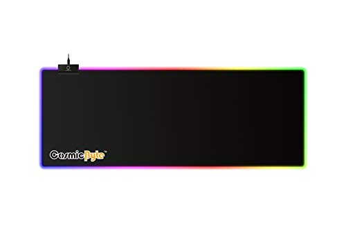 Cosmic Byte Volcano 7 Colour RGB Gaming Soft Mousepad with Effects (XXL, 900 x 300mm)