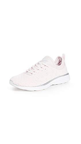 APL: Athletic Propulsion Labs Women's Techloom Phantom Sneakers, Bleached Pink/Silver/White, 10.5 Medium US