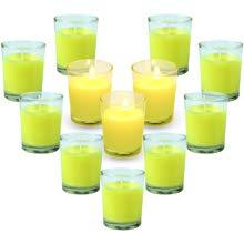 LA BELLEFÉE Citronella Kerzen Mückenschutz Zitronengras Duftkerzen im Glas Aromatherapie 100% natürliche Sojawachs für Innen und Draussen 12 Stück