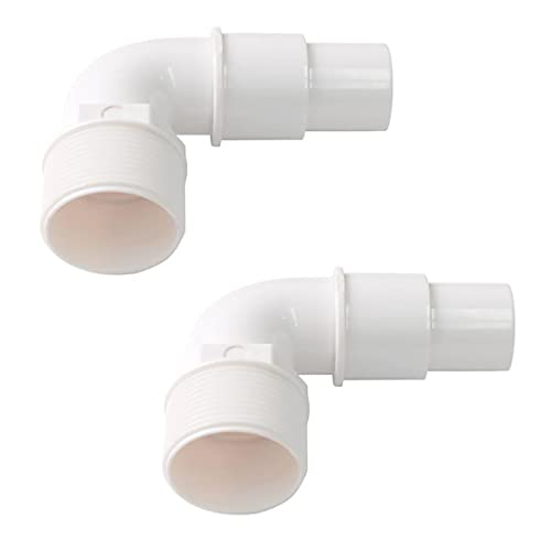 ATIE 1.5' 90 Degree Smooth Elbow Hose Adapter Fitting SPX1105Z3 Replacement for Above-Ground Pool Pump, Filter, Skimmer, Compatible with Hayward SPX1105Z3, SPX1105Z4, SPX1091Z7 Adapters (2 Pack)