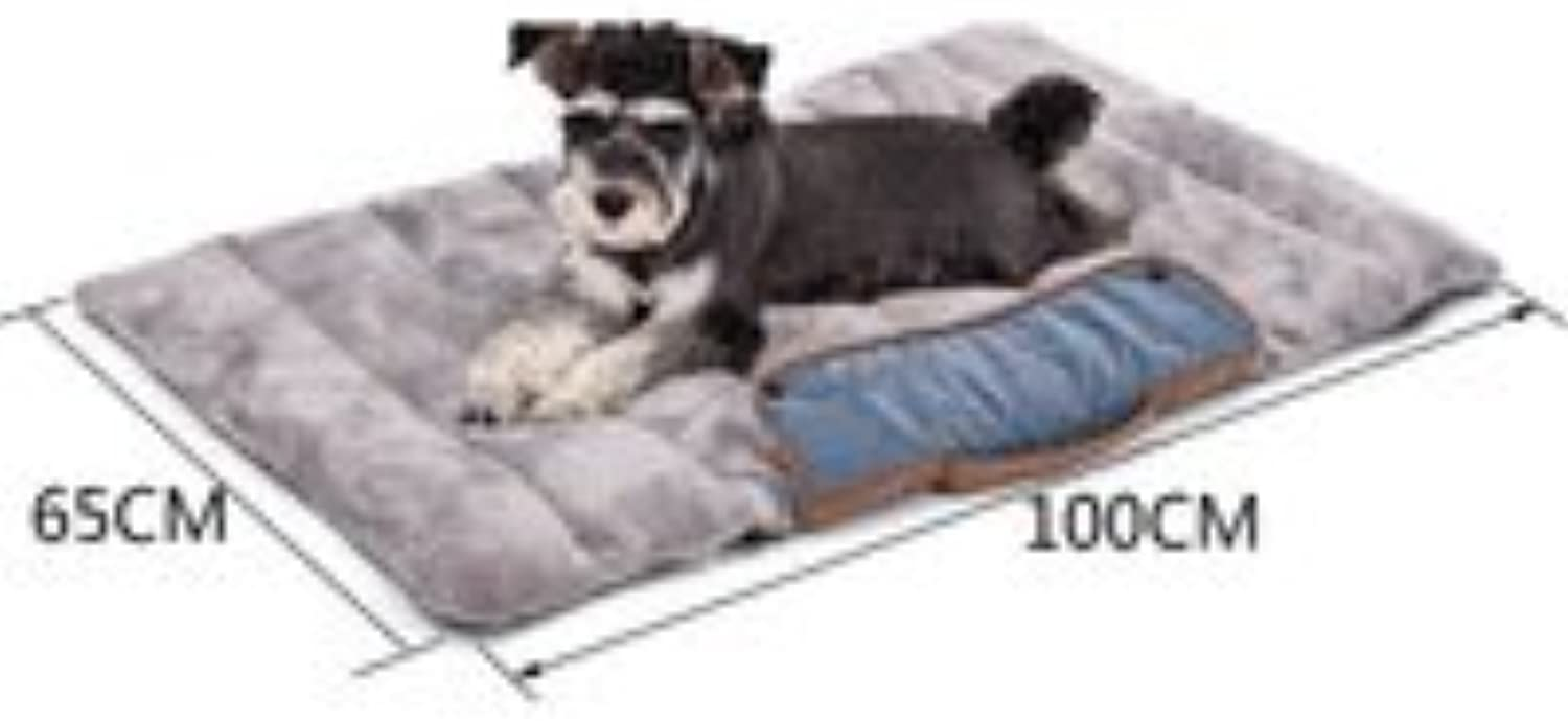 Foldable Dog Mats Soft Pet Cushion Convenience Carry Pet Puppy Bed Warm Thick Cat Bed