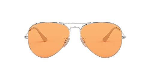 Ray-Ban 9065V9 Gafas de sol, Silver, 53 para Hombre