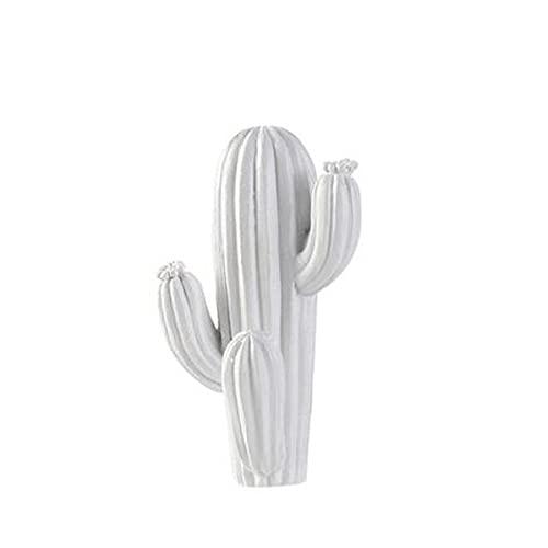 1pcs Resina Cactus Gancho de pared Colgador de llaves Autoadhesivo Gancho de suspensión tridimensional Accesorios de decoración del hogar, Blanco