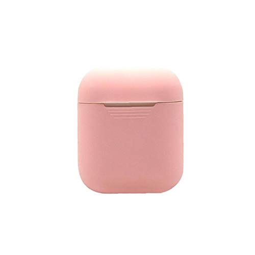 Earphone Case Soft Silicone Earphone Protective Cover Case Storage Bag Compatible with Apple AirPods Light Pink Durable Useful Tool