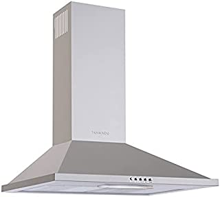 Tornado HO90PS-1 Kitchen Cooker Hood with 3 Speeds, 90 cm - Silver