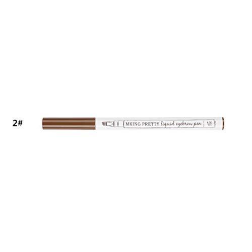 3 couleurs stylo à sourcils crayon à sourcils étanche maquillage anti-taches maquillage des sourcils liquide sourcils Enhancers Beauty Tool — 2# brun