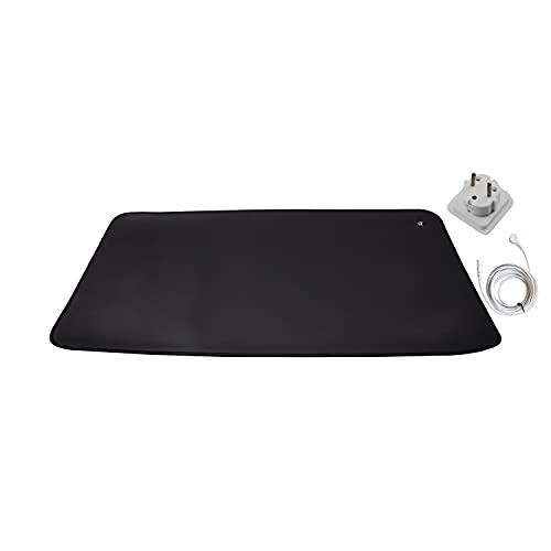 Erdungsmatte, 33 x 60 cm, gut für unter dem Schreibtisch, Tisch, Sofa, besser schlafen, sich mehr erholen, leicht zu reinigen