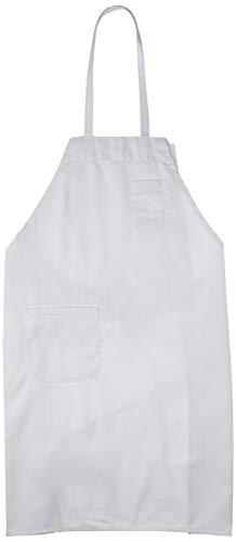 Winco BA-PWH Full Length Bib Apron with Pocket, White,Medium