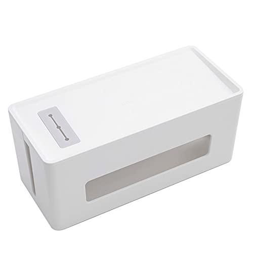 WXXT Kabelbox,Kabelmanagement Box,Kabel Organizer Box,Organizer Zur Vermeidung Von Kabelsalat,Aufbewahrungsbox Zum Verstecken Von Steckdosenleisten,Mit Deckel(305×130×130mm)