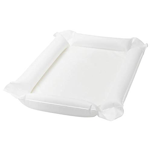 Babyvårdsmatta, vit, vattentålig, produktstorlek: Längd: 80 cm Bredd: 53 cm Höjd: 2 cm, material: Basmaterial: 80/20 % PEVA Fyllnadsmaterial: Polyuretanskum, Ventil: EVA-plast