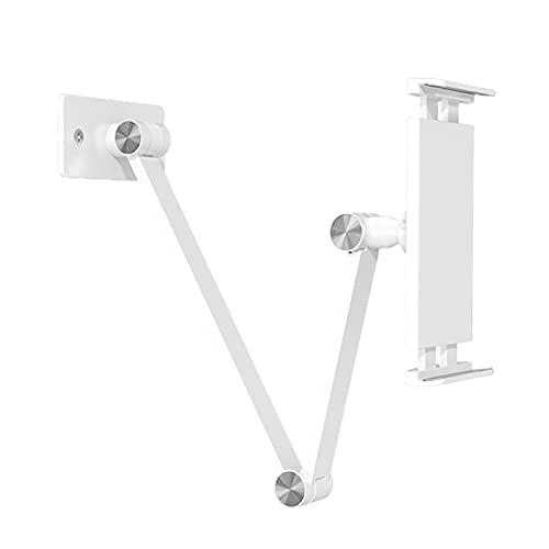 LAHappy Soporte Stand para Holder Tablet Pared Cocin, Giratorio hasta 360º, Soporte Universal Foldable Tableta Stand para Tablets de 4.7-12.9 Pulgadas,Blanco