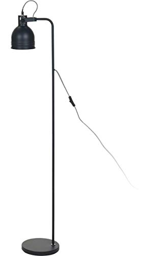 Elegante Stehlampe aus Metall - Schwarz - 136cm