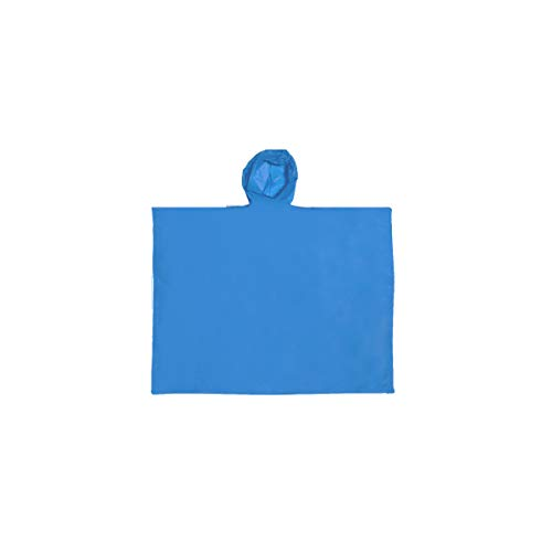 Projects Regencape Regenponcho Damen Herren wasserdicht \'Drop\' Einheitsgröße aus PEVA blau   Notfall Regenponcho Fahrrad Wandern Trekking Outdoor Regenschutz   Regen Poncho Rain Poncho
