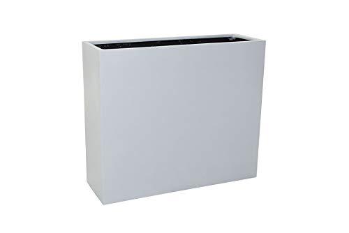 VIVANNO Pflanzkübel Raumteiler Trennelement Sichtschutz Fiberglas Elemento Weiß matt
