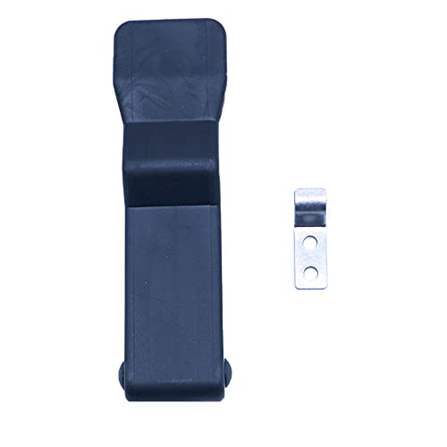ANCLLO Elastyczna gumowa zasuwka zasuwana czarna miękka przednia półka do przechowywania zatrzask z ukrytym uchwytem na lodówkę, pudełko cargo