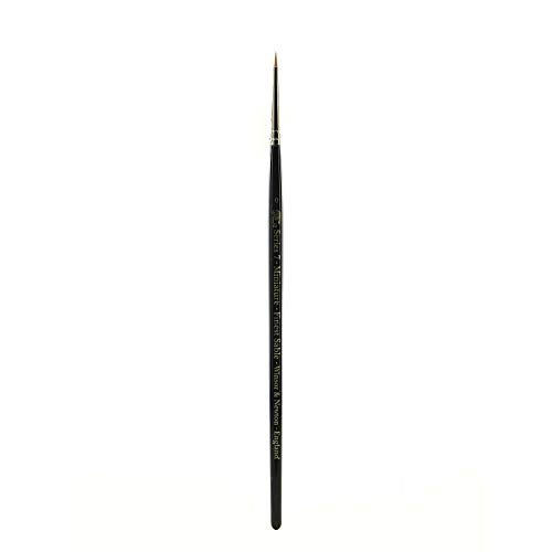 Winsor & Newton- Pincel de Acuarela para miniaturas Serie 7, Color Negro, 0 (5012000)