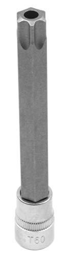 Koshihara コシハラ N342 差込角 9.5mm(3/8インチ) いじり止めトルクスビットソケット いじり止め(穴あり) スタービットソケット(穴開き) T60H 全長120mm 軸S2 台湾製 整備用工具