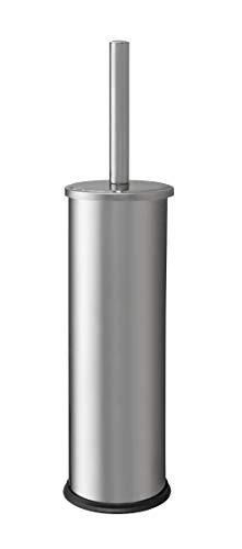 Haug Serviteur WC cylindrique avec Couvercle en Acier Inoxydable avec Brosse Ronde