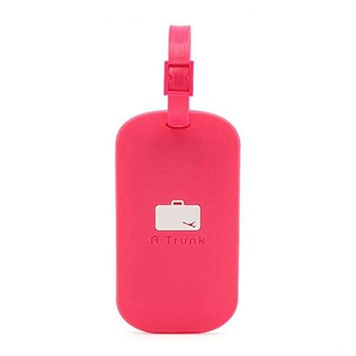TTCI-RR Etichette Bagagli, Silicone PVC. Bagagli Tag Suitcase. ID. Tag di imbarco Bagagli titoli addres Tag Portatili Etichetta (Color : Rose Red)