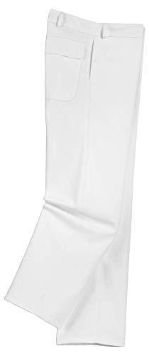 Uvex Whitewear 89321 herenbroek, witte werkbroek met veel zakken, perfect voor lakkers, schilders en behangapparaten, werkbroek van 65% katoen voor mannen, wit, maat 48